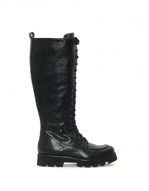 SAMPLE  JENNY MADRAS BLACK BOOT