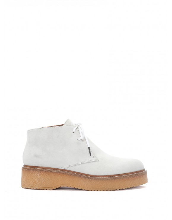 SAMPLE KIMBA VELOR WHITE BOOTS