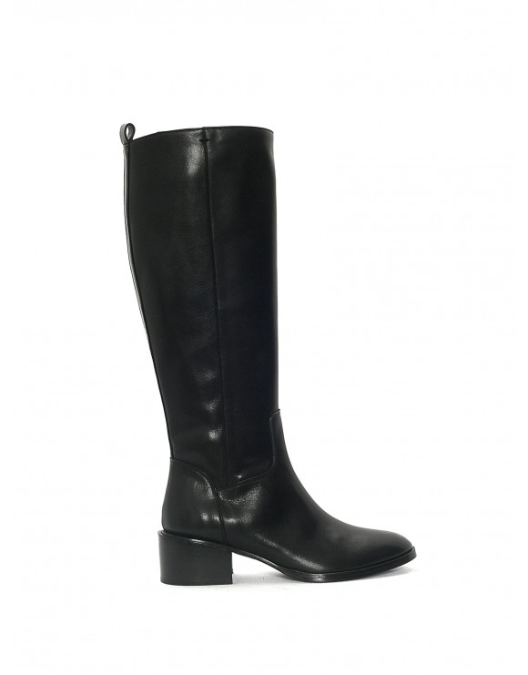 BLACK MIRIAM HEEL SAMPLE BOOT
