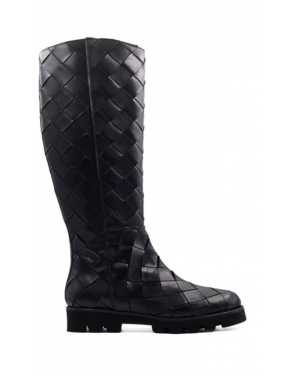 JENNY BLACK WOVEN 8MM BOOT