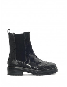 ANDREA BLACK 8MM WOVEN BOOT