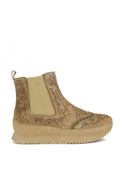 CARTIER SAND VELOUR ANKLE BOOT