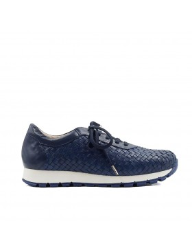 MANDY NAVY BRAIDED SNEAKER