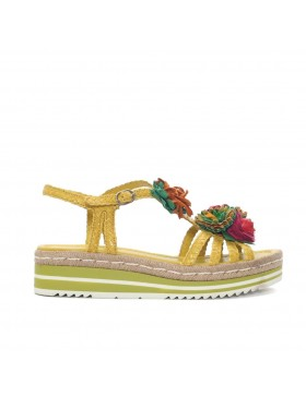 MILAN YELLOW BRAIDED PLATFORM SANDAL
