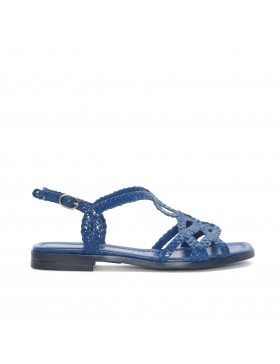 EMY ELECTRIC BRAIDED FLAT SANDAL