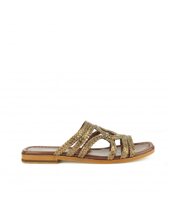 EMY COPPER FLAT SANDAL