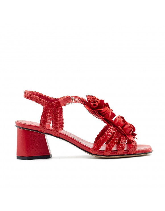 BAYONA RED HEELED SANDAL