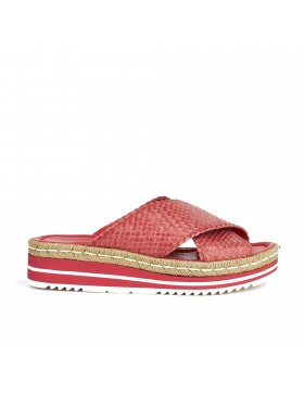 MILAN STRAWBERRY WEDGE SANDAL