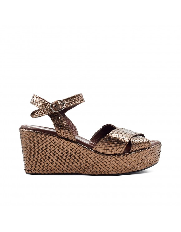 ALICIA COPPER PLATFORM SANDAL