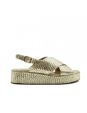 FORLI PLATINUM WEDGE SANDAL