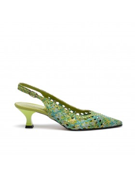 PAMELA LIME HEELED SHOE