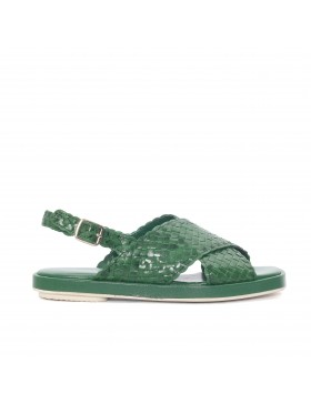 MALENA GREEN 8MM FLAT SANDAL