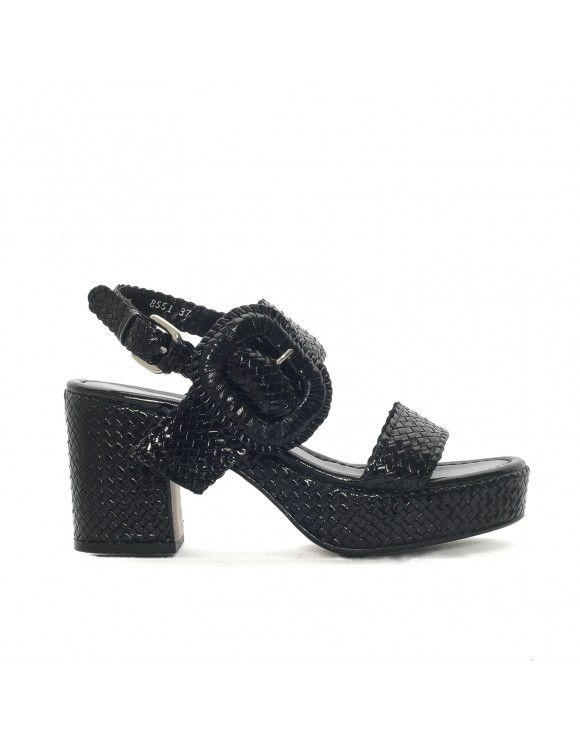 TIVOLI BLACK HEELED SANDAL
