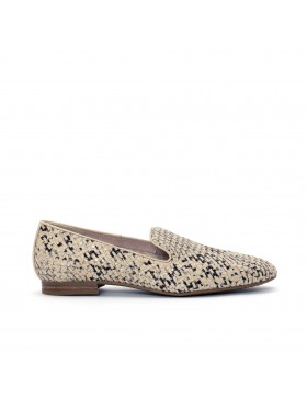 CHARLY BRAIDED IVORY MOCASSIN